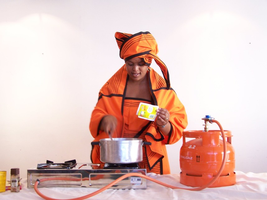 LPG Cooking demonstration in south africa