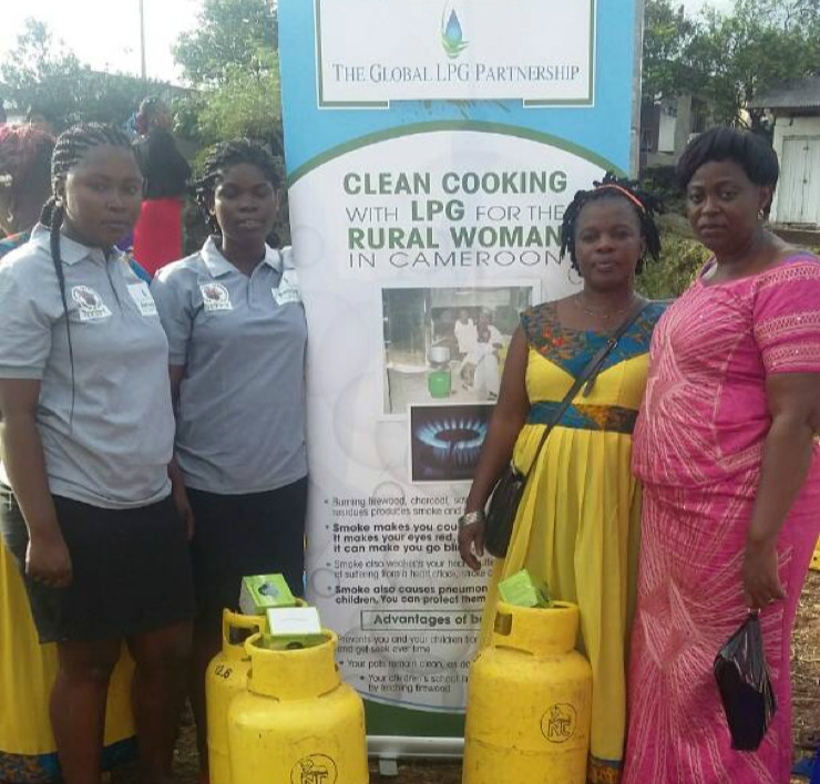GLPGP sharing health benefits of LPG with women in Limbe, Cameroon on the International Day of the Rural Woman.