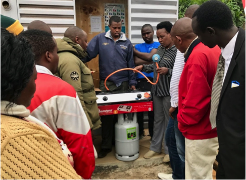 equipment delivery to microloan recipients in Magumu county, kenya on august 23, 2018