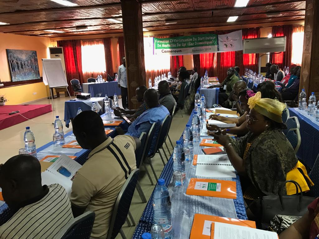 Training of LPG distributors in Yaounde, September 2019.
