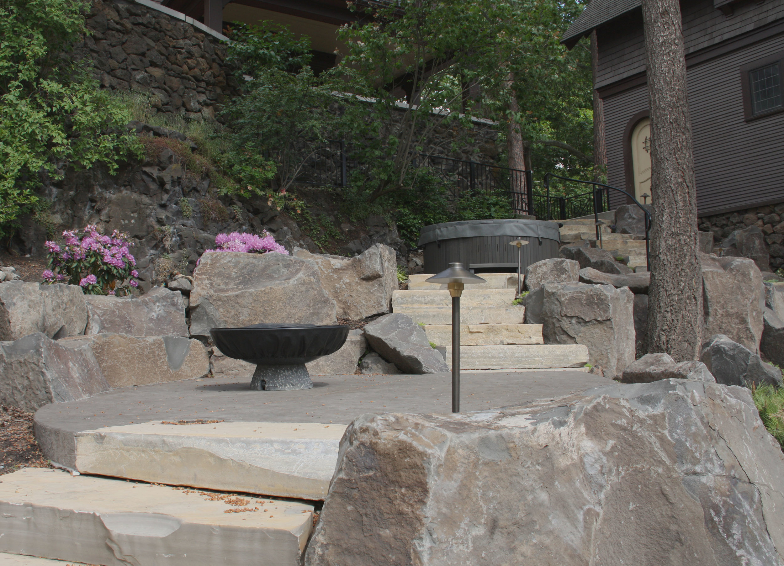spokane patio and fire pit landscaping