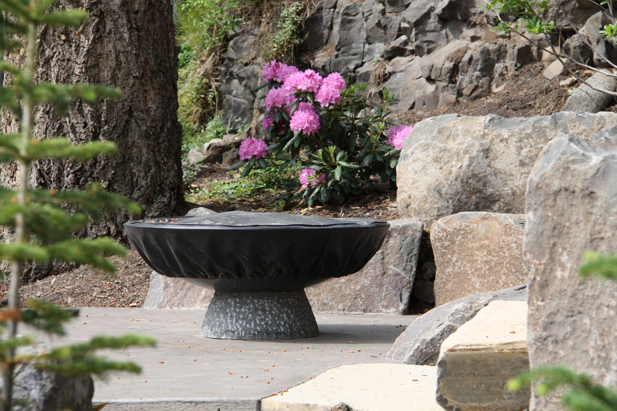 spokane south hill fire pit landscaping