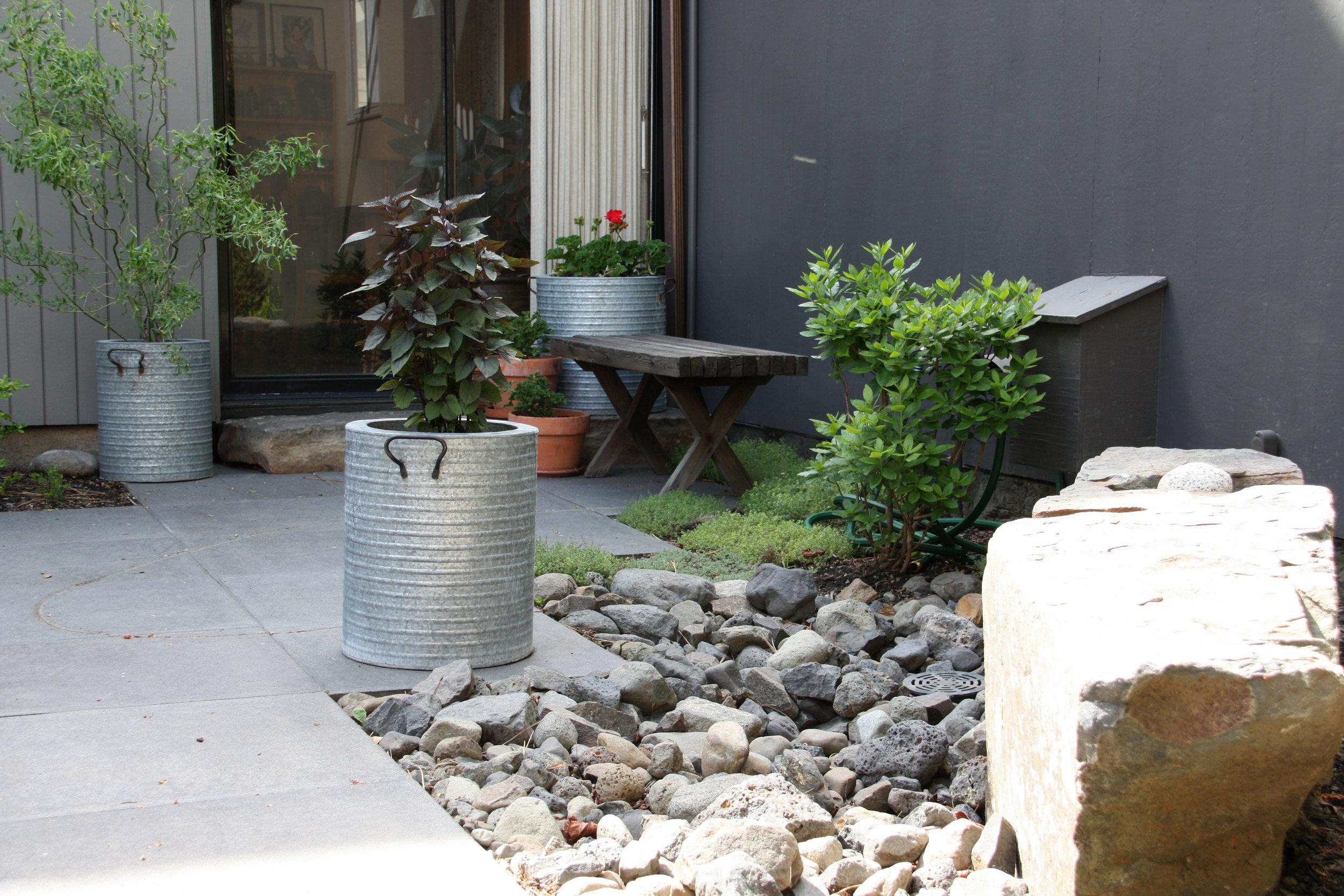 outdoor metal planters