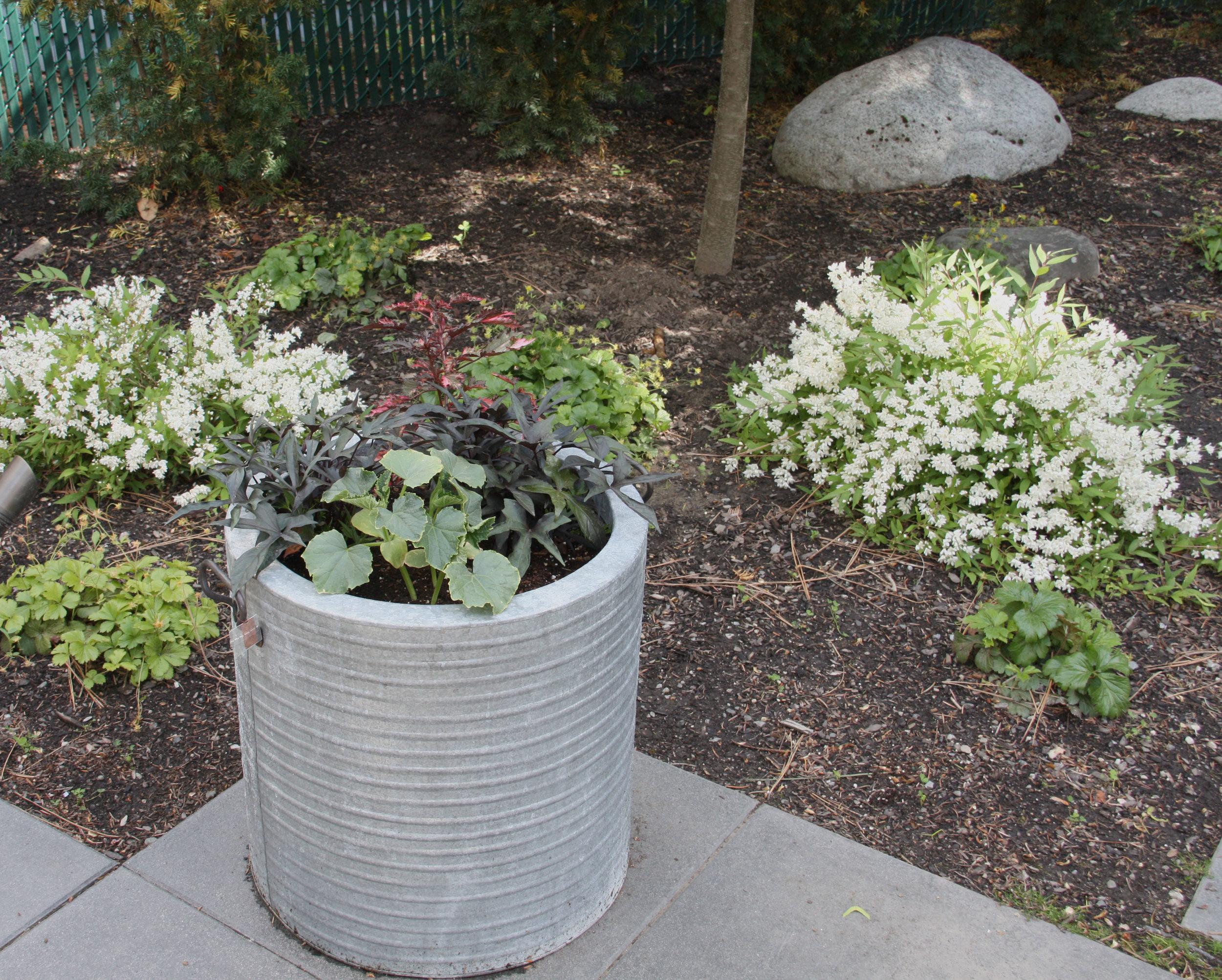 outdoor metal planter