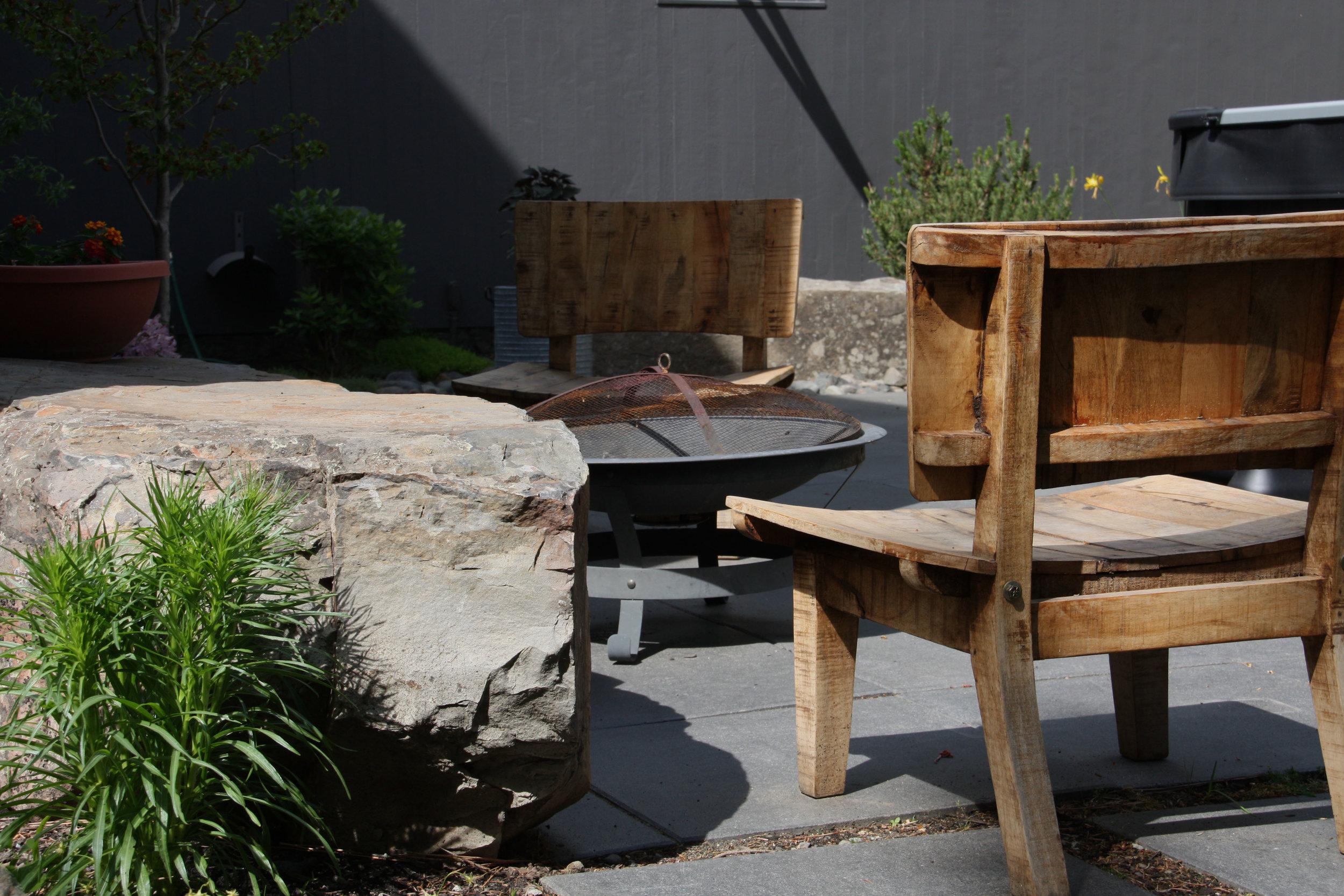japanese inspired zen fire pit