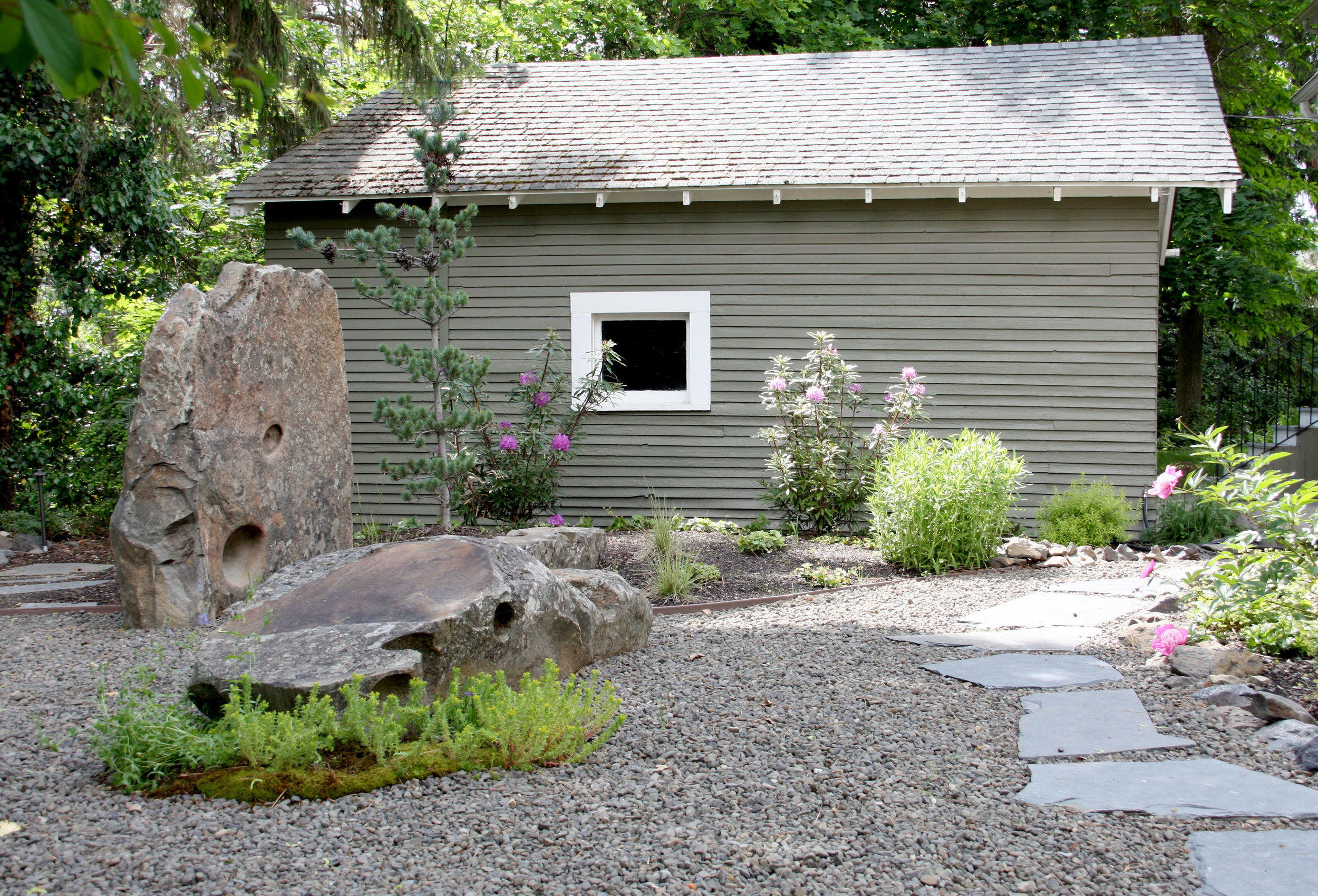 zen garden gravel patio