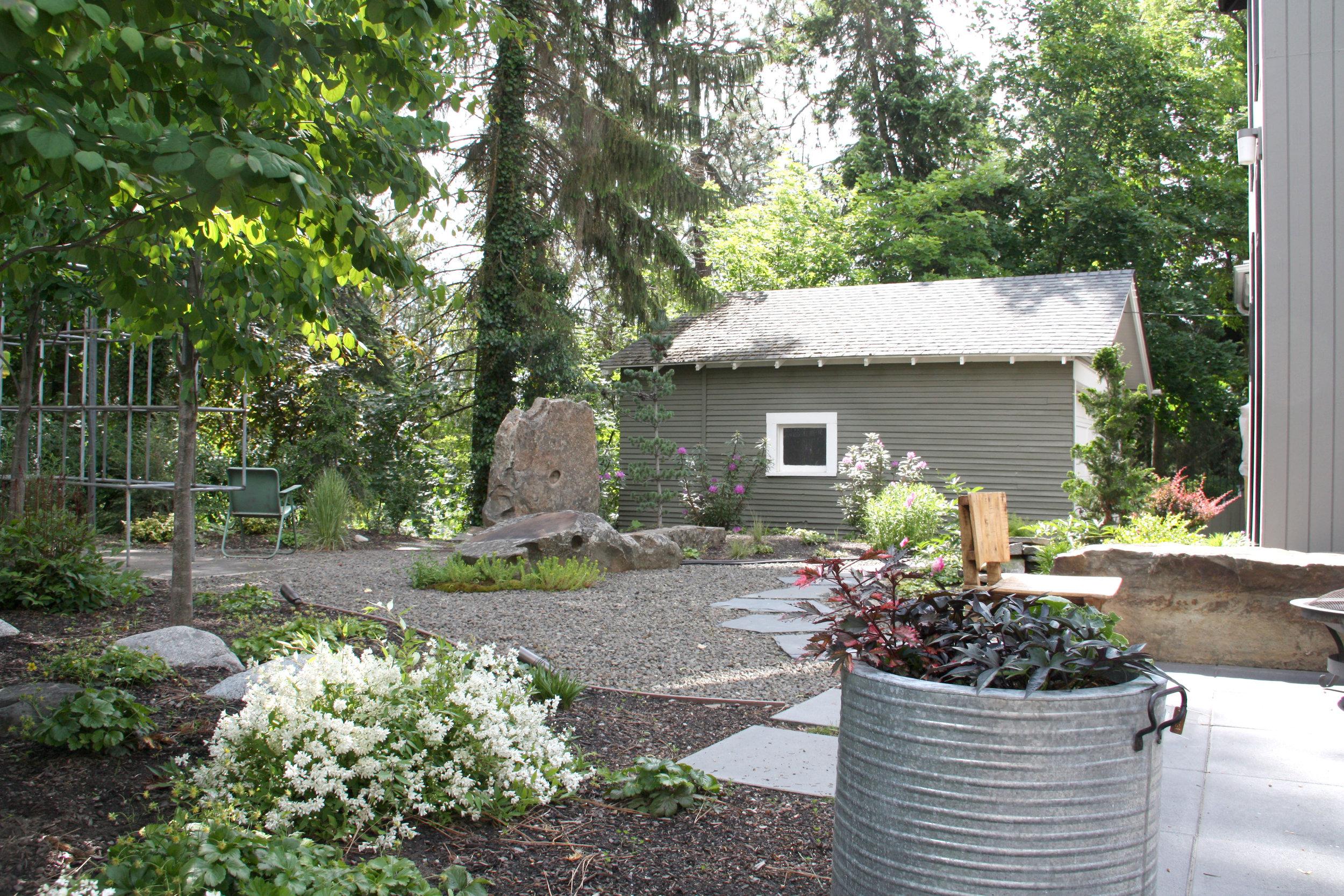 mid century garden update