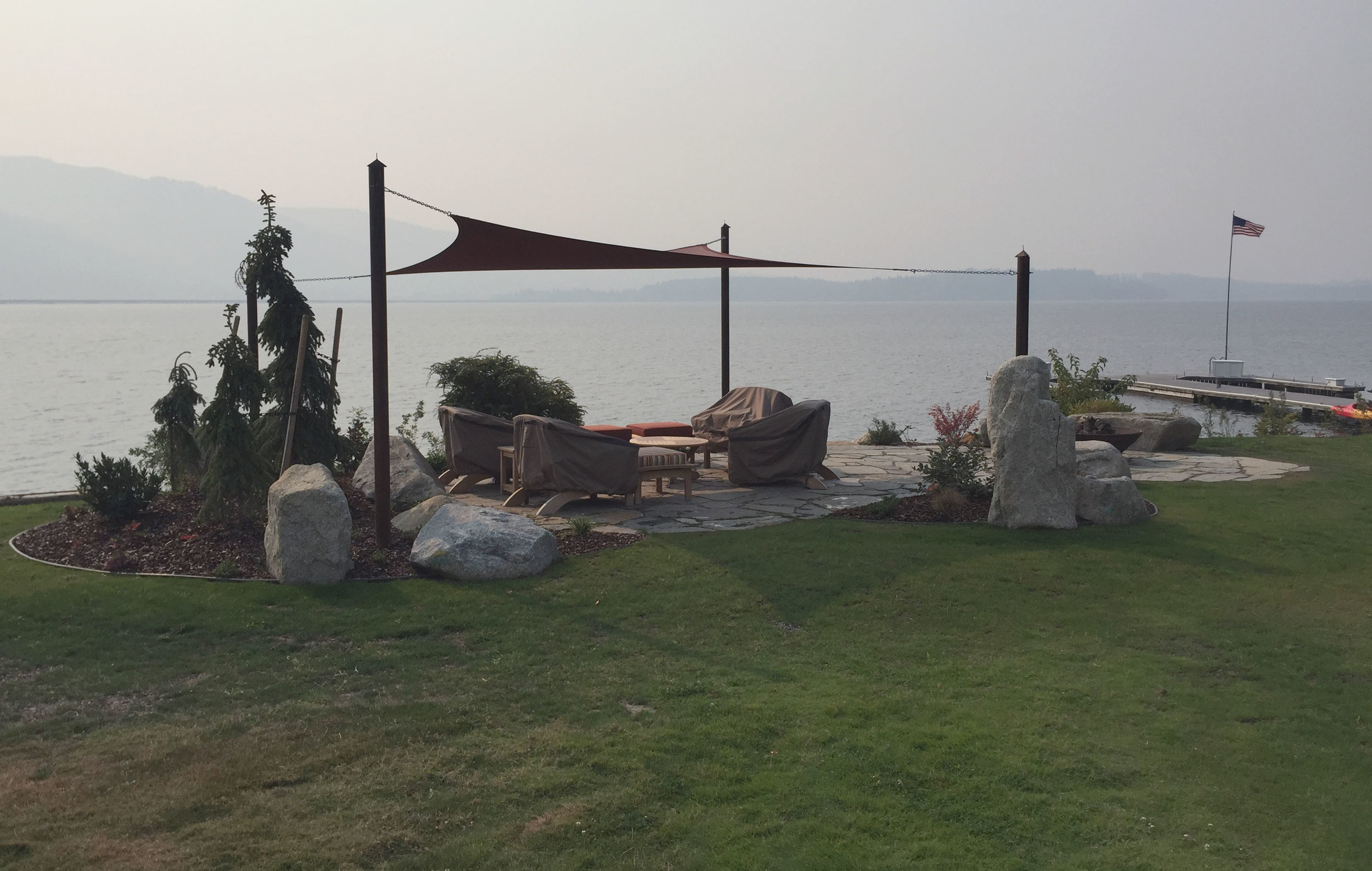northwest shade sail over patio