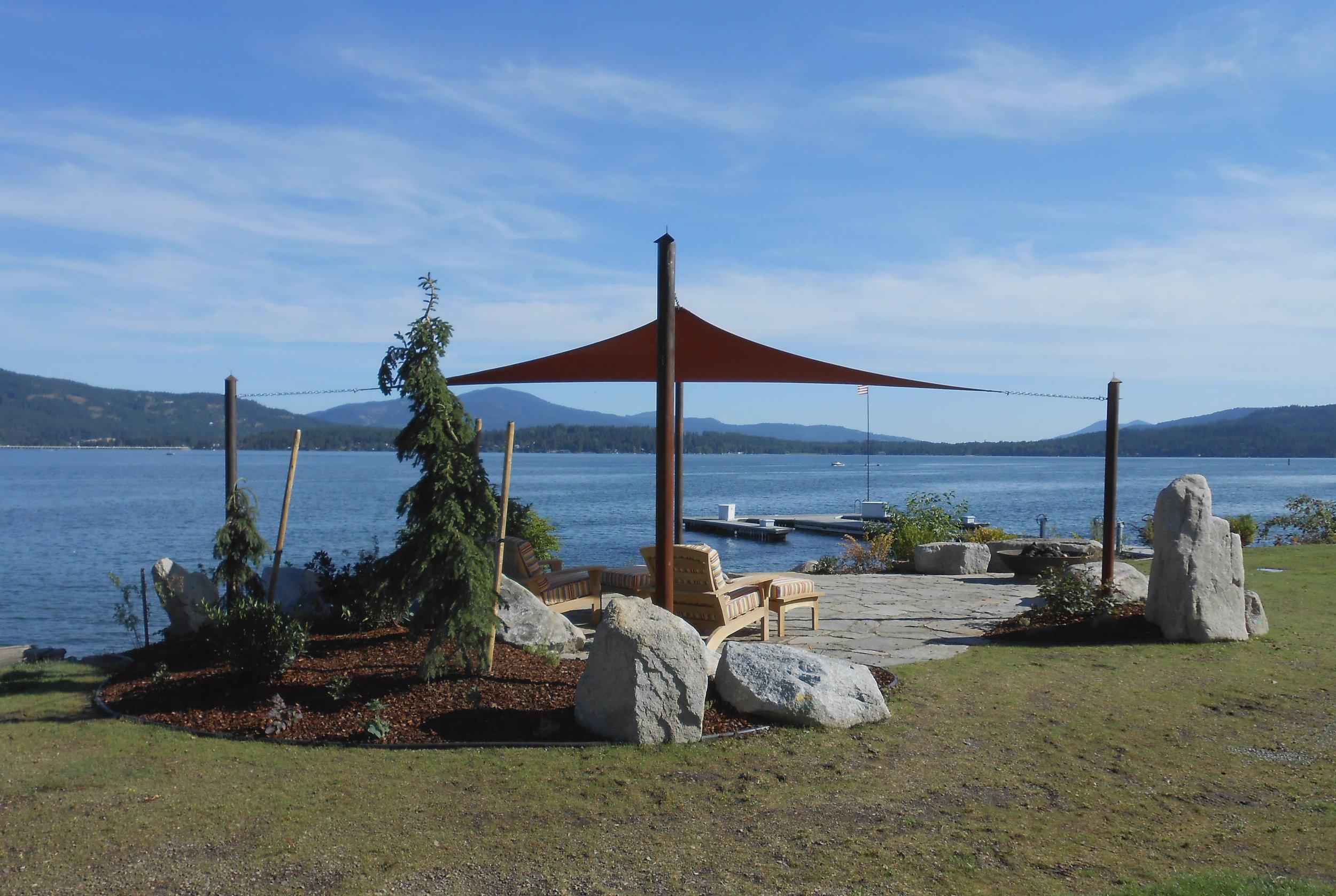 shade sail northwest lakeside patio