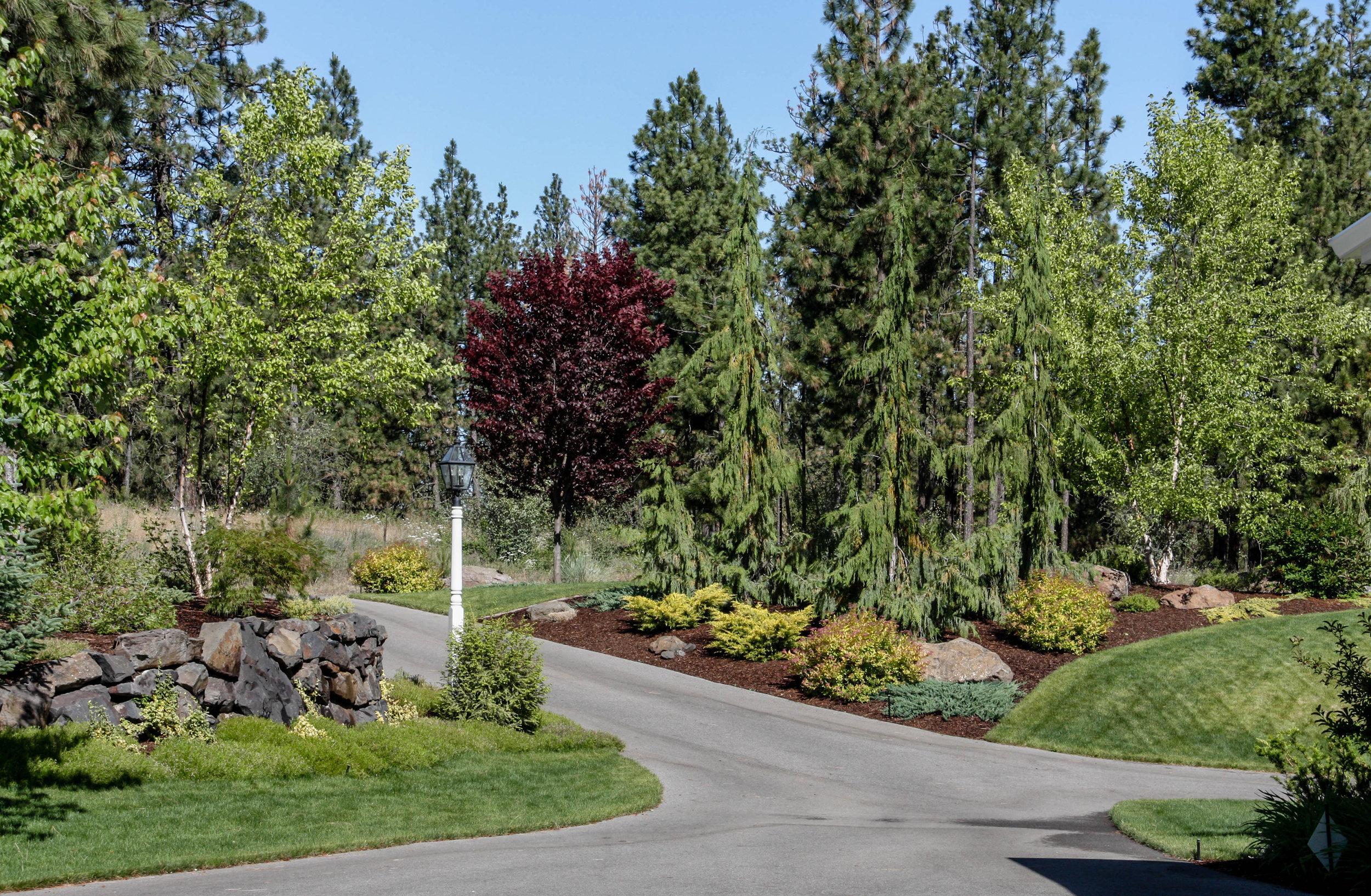 northwest driveway landscaping spokane ridge at hangman