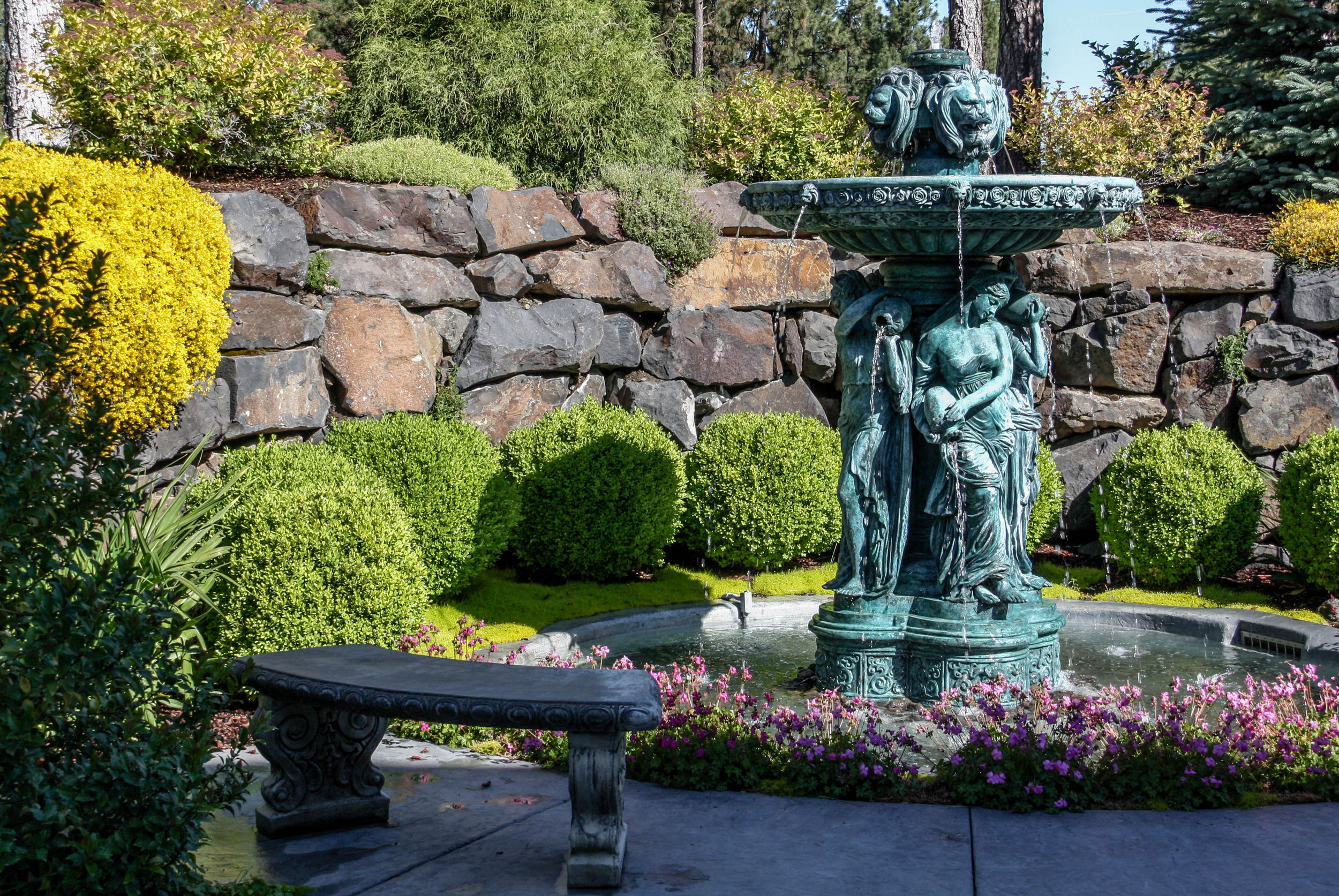 spokane colonial landscaping european water feature