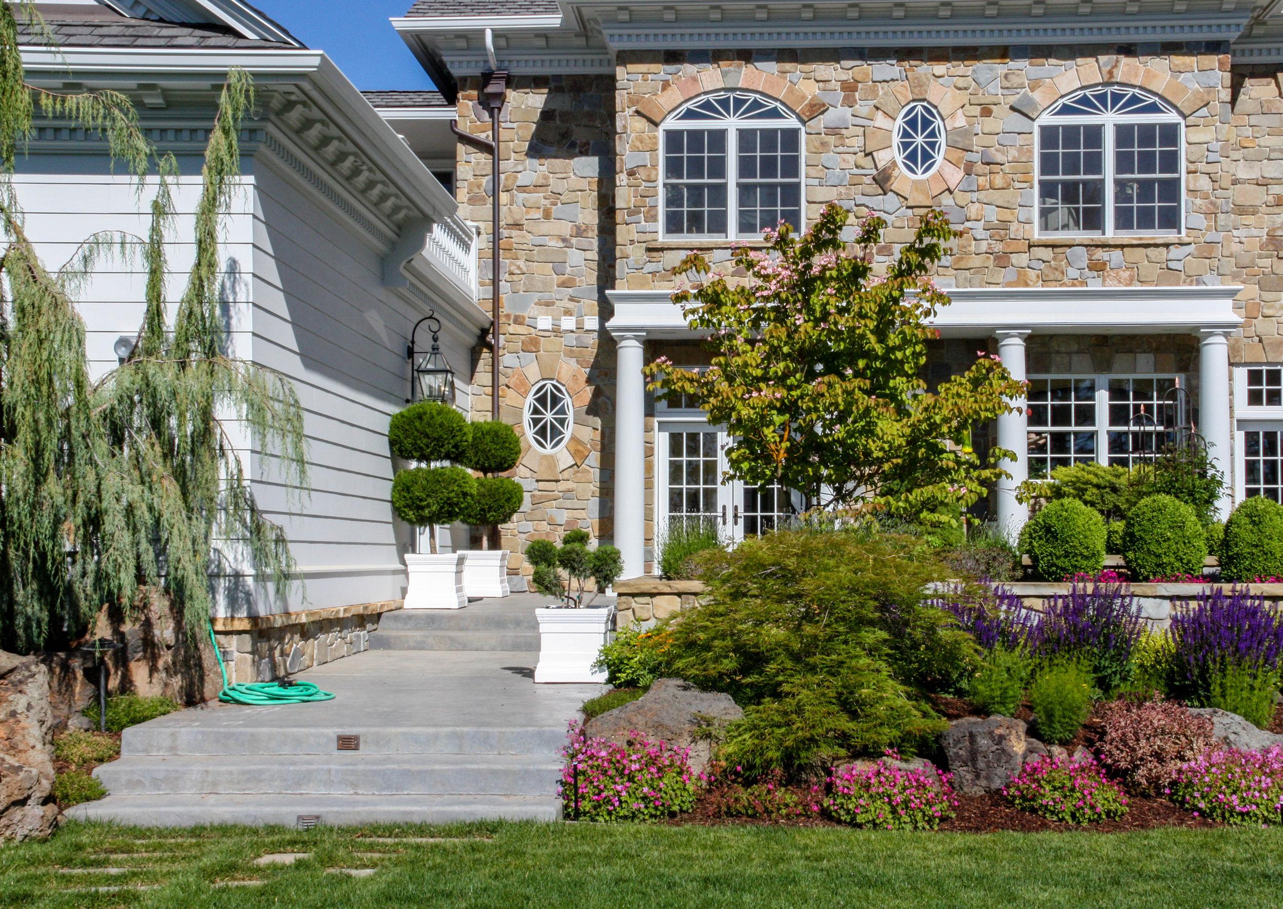 formal patio landscaping spokane