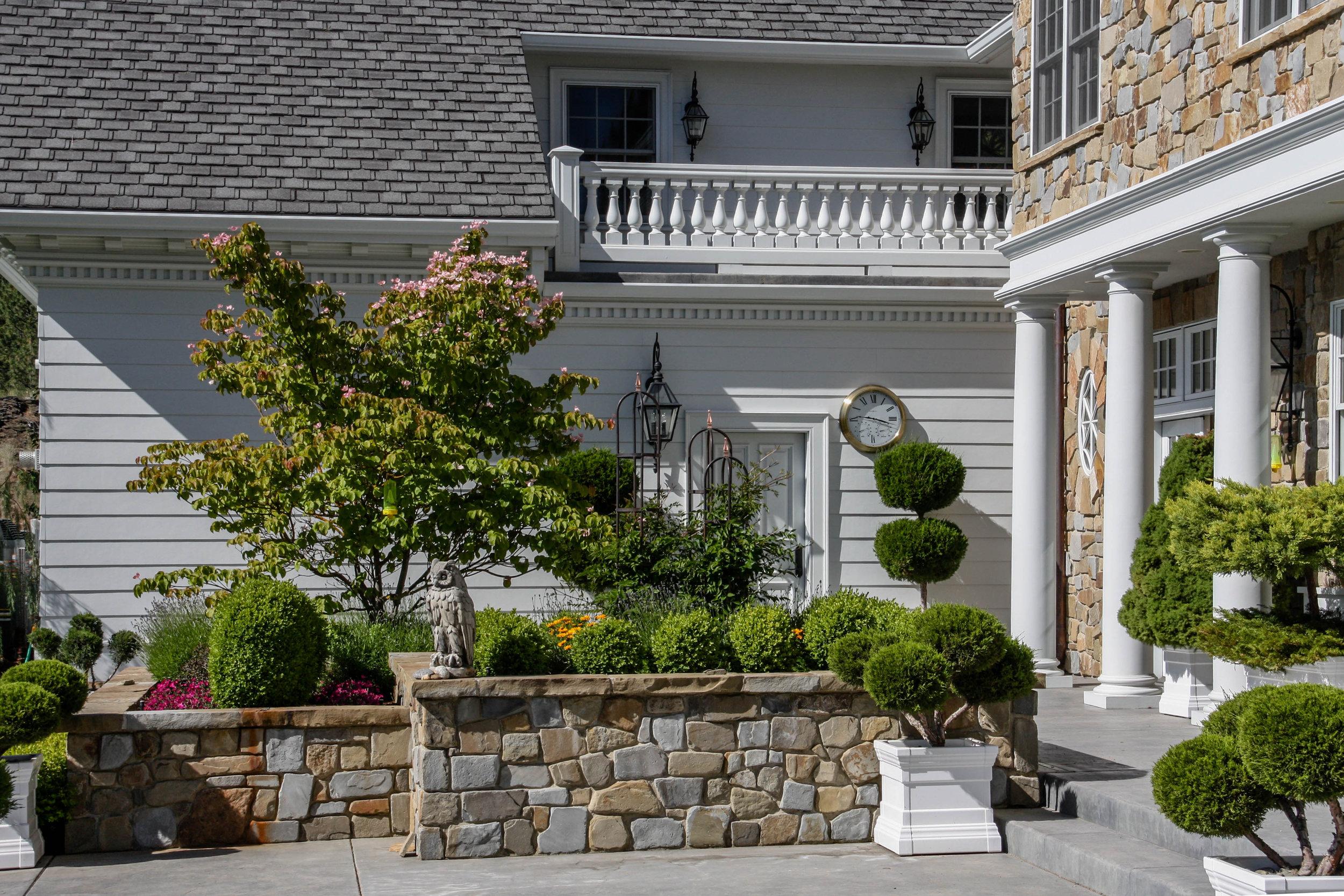 stone raised planter beds spokane landscaping