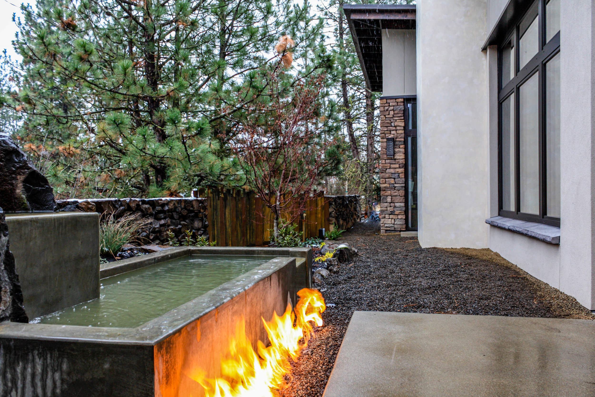 spokane south hill contemporary landscaping