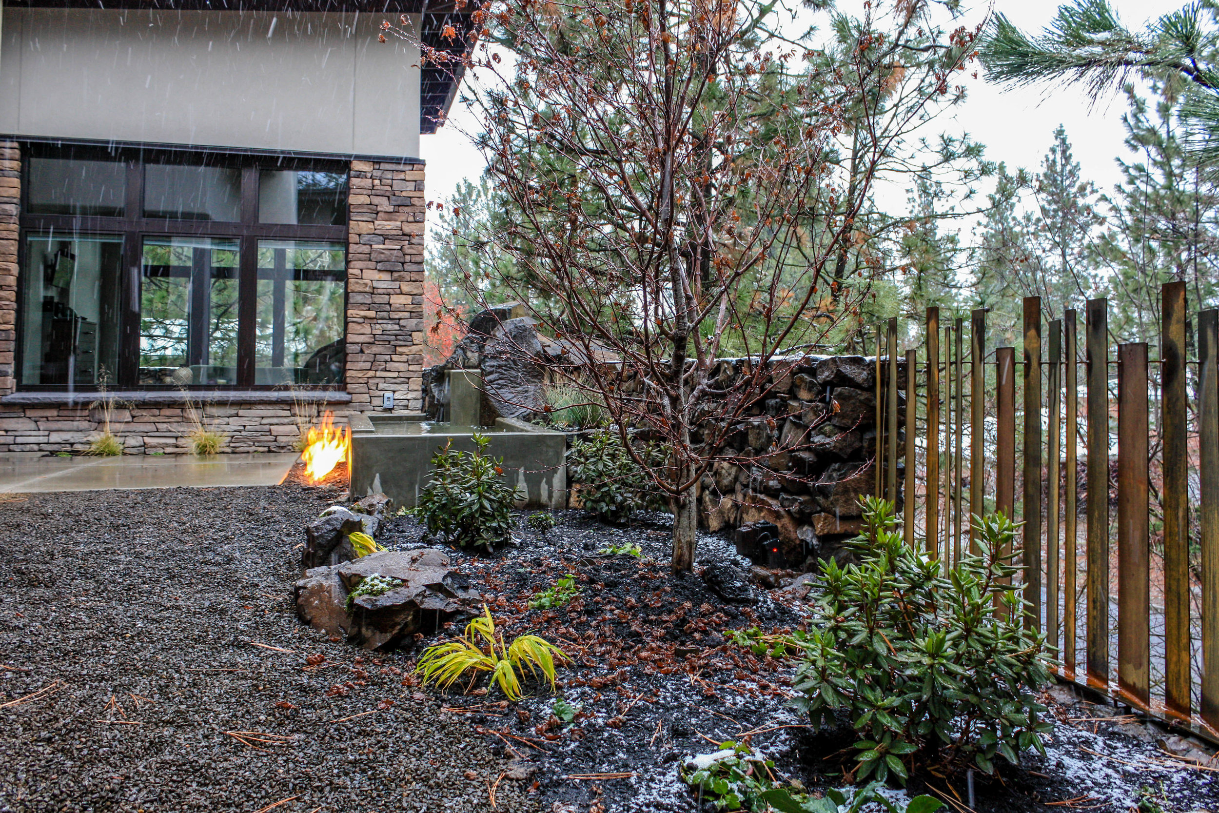 spokane south hill passive house contemporary landscaping