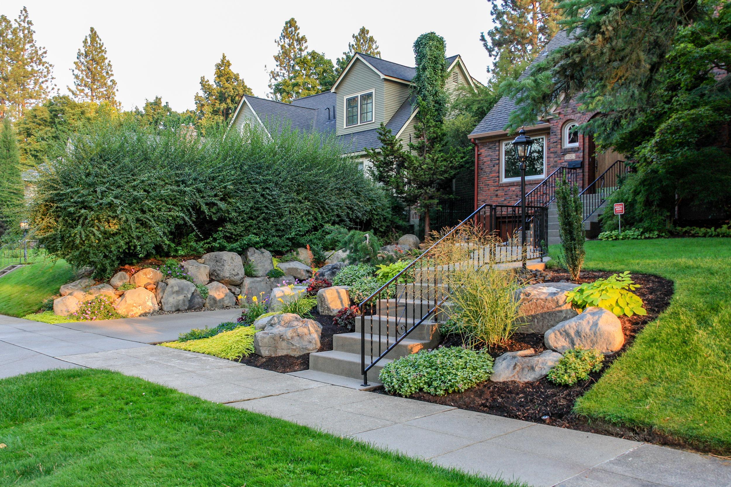 spokane south hill landscaping and sidewalk repair