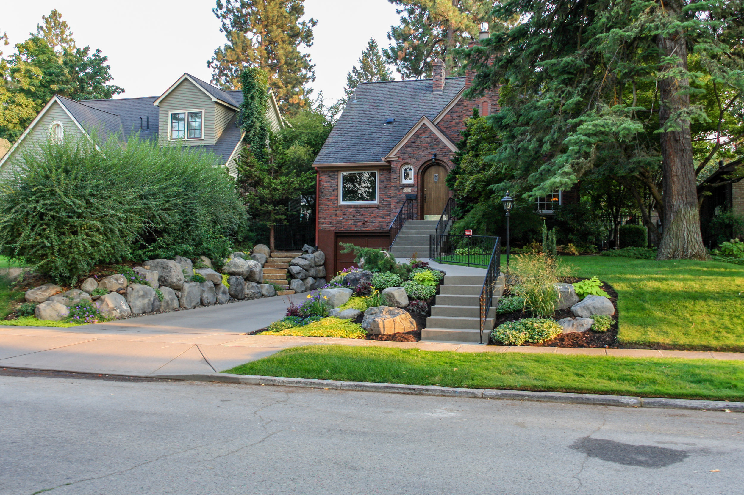 spokane south hill front yard landscaping