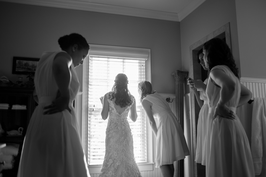 """Peeking out the window to watch as guests arrived, my sister playing my processional on the harp, a glance from my brother, my grandparents singing together, walking back down the aisle as a married couple and beaming, the excitement of leaving with sparklers . . . even three years later we get a flood of emotions from the day and love looking back to remember what a sacred time it was.""  — Ivy, bride"