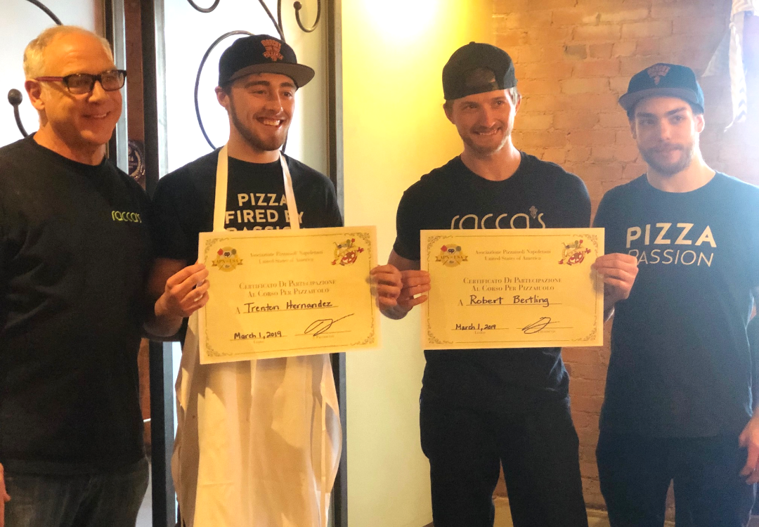 Our Pizzaiolo's earn their certification from AVPN.