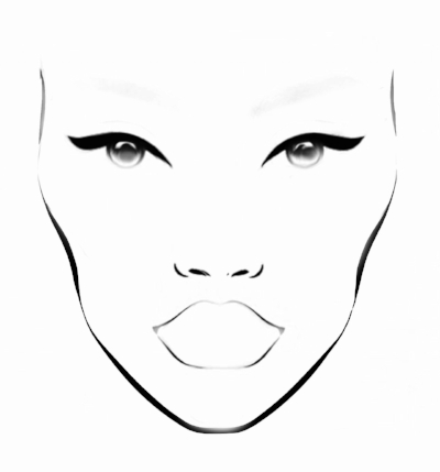 Free Blank Face Charts For Makeup