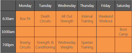 Fusion Health Gym Class timetable.png