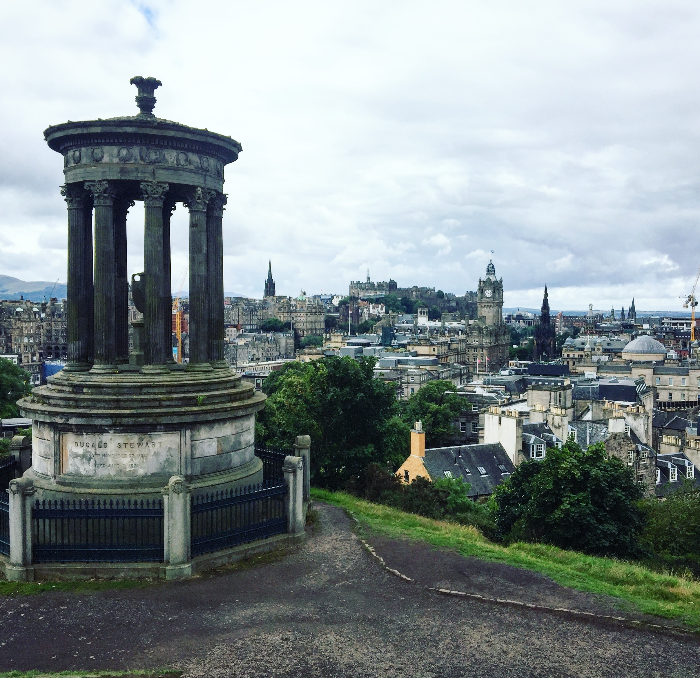 Calton Hill: Amazing views over the New Town, Arthur's Seat and The Firth of Forth
