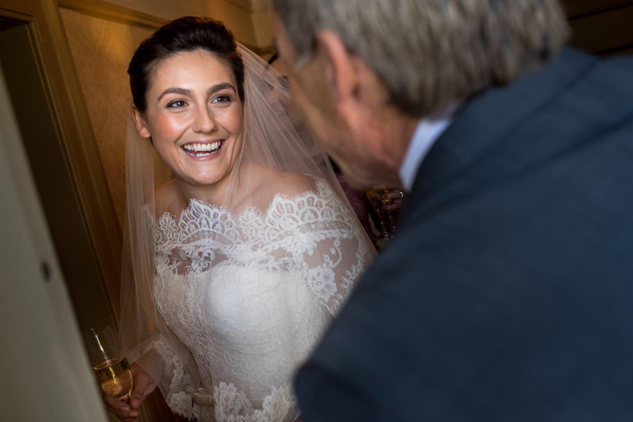 Harriet on her wedding day in 2015
