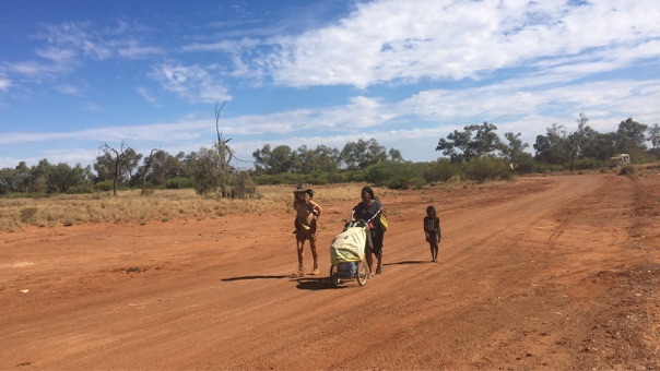 Lindsey walking in the footsteps of three incredible children, Molly, Daisy and Gracie, along The Rabbit Proof Fence in Western Australia.