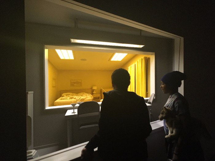 Art Appreciation class on Wednesday at CCAD, checking out an exhibition of dioramas by world renowned artist Roxy Paine.