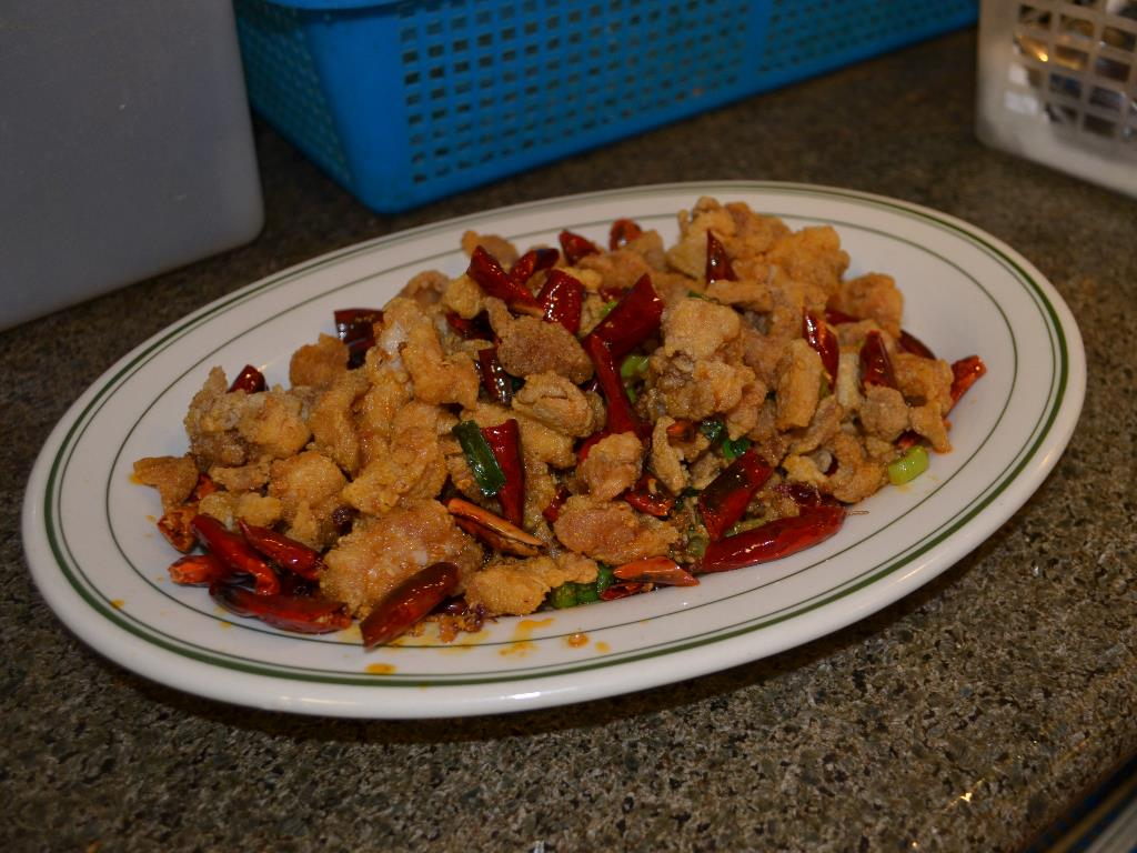 Pepper Chicken   辣子鸡  - deep fried chicken with spicy seasonings