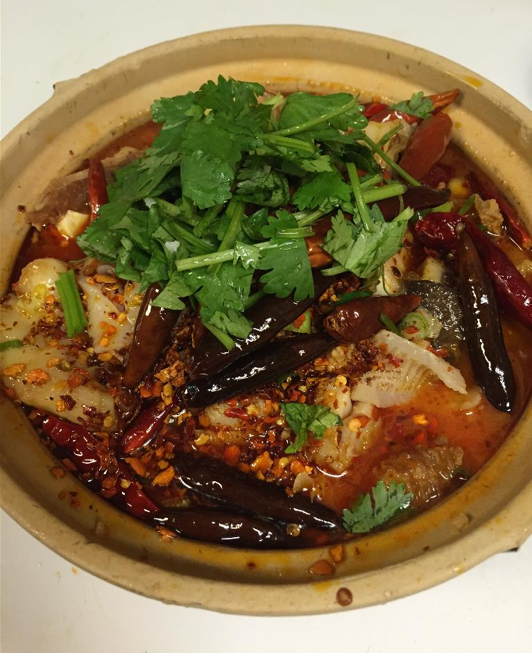Spicy Pot (Ma La Xiang Guo)  麻辣香锅  - Spicy stew with fish, tripe, beef, pork intestines
