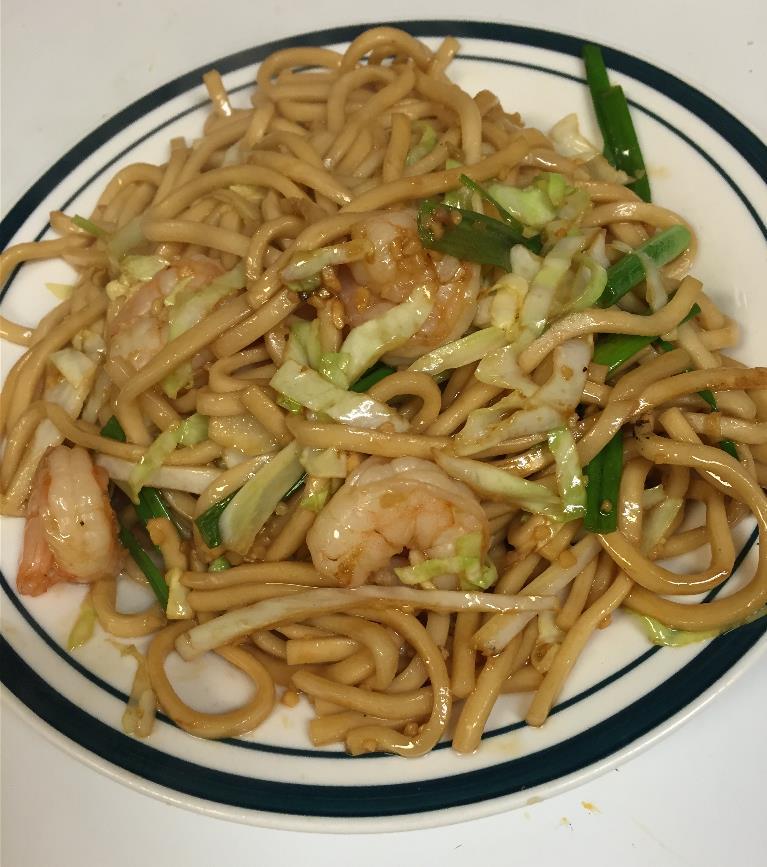 Shrimp Chow Mein  虾炒面