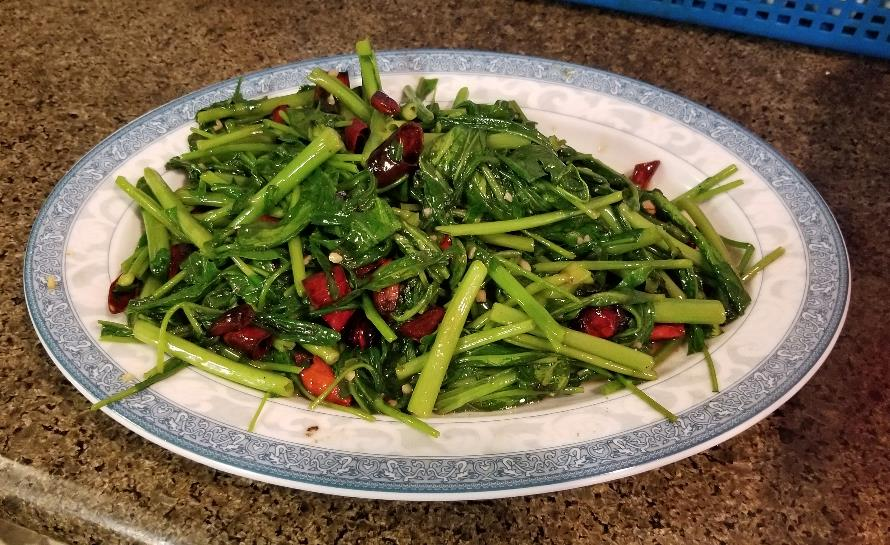 Chinese Greens (on choy)  清炒空心菜