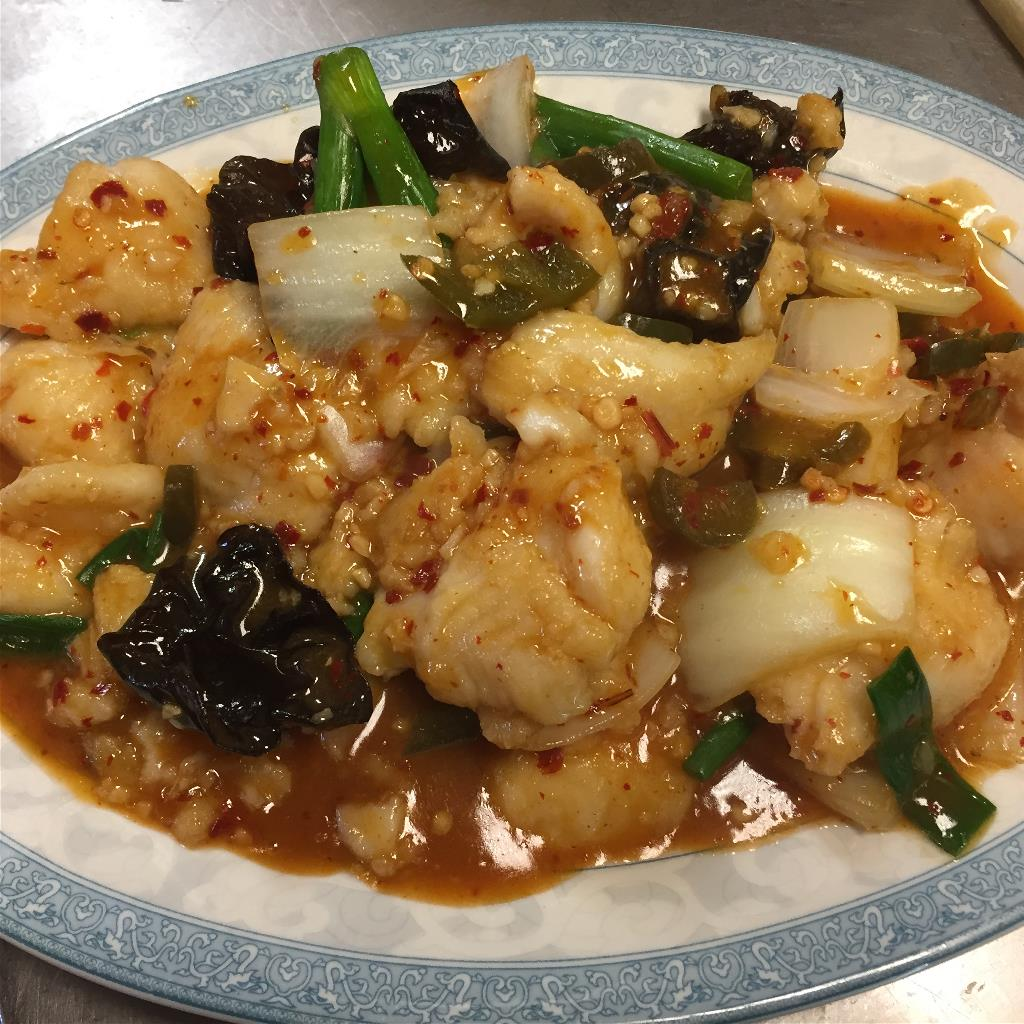 Diced Fish with Pickled Pepper  泡椒鱼片