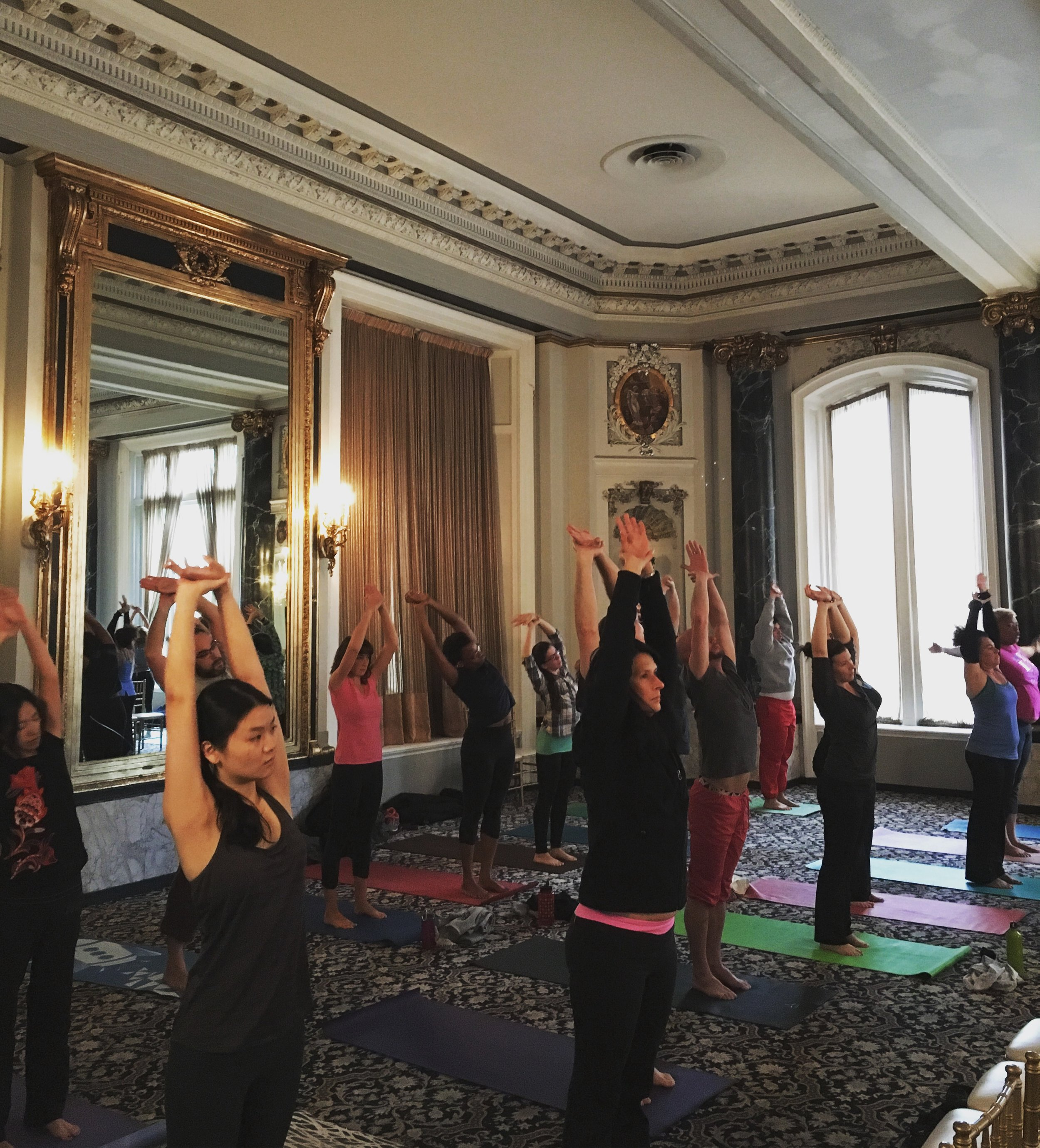 Be More Yoga in the Belvedere Hotel