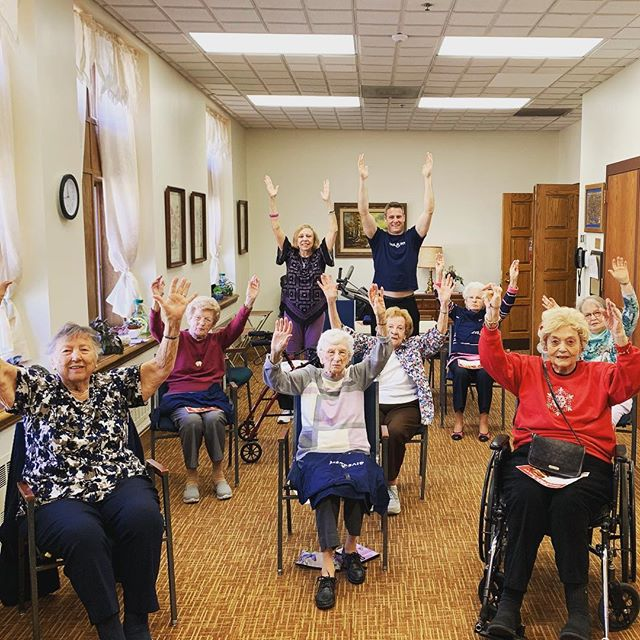 Hearts are full after #chairyoga at our newest senior living community! #seniorfitness #freefitness