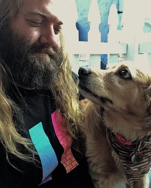 Celebrating #nationaldogday with my number one pal Jojo. She's helped make me one happy guy over the years! . . . . #adoptdontshop #goldencocker #gooddoggos #dogsofinstagram #jojo #sweetgirl