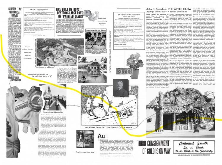 FAIR IS FAIR Broadside, Newsprint with silkscreen. Hermione Spriggs