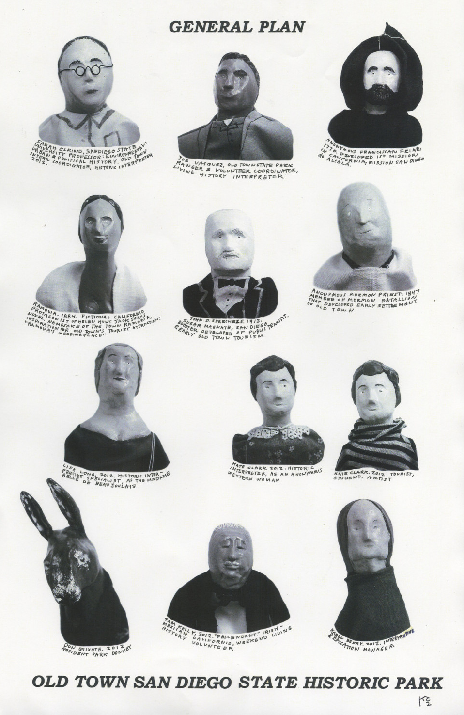 Poster: Old Town Typologies. Collage + marionettes