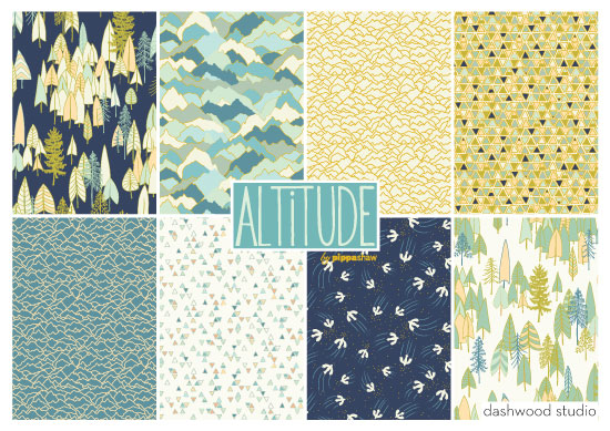 """Altitude"" - Pippa's new fabric collection for Dashwood Studio"