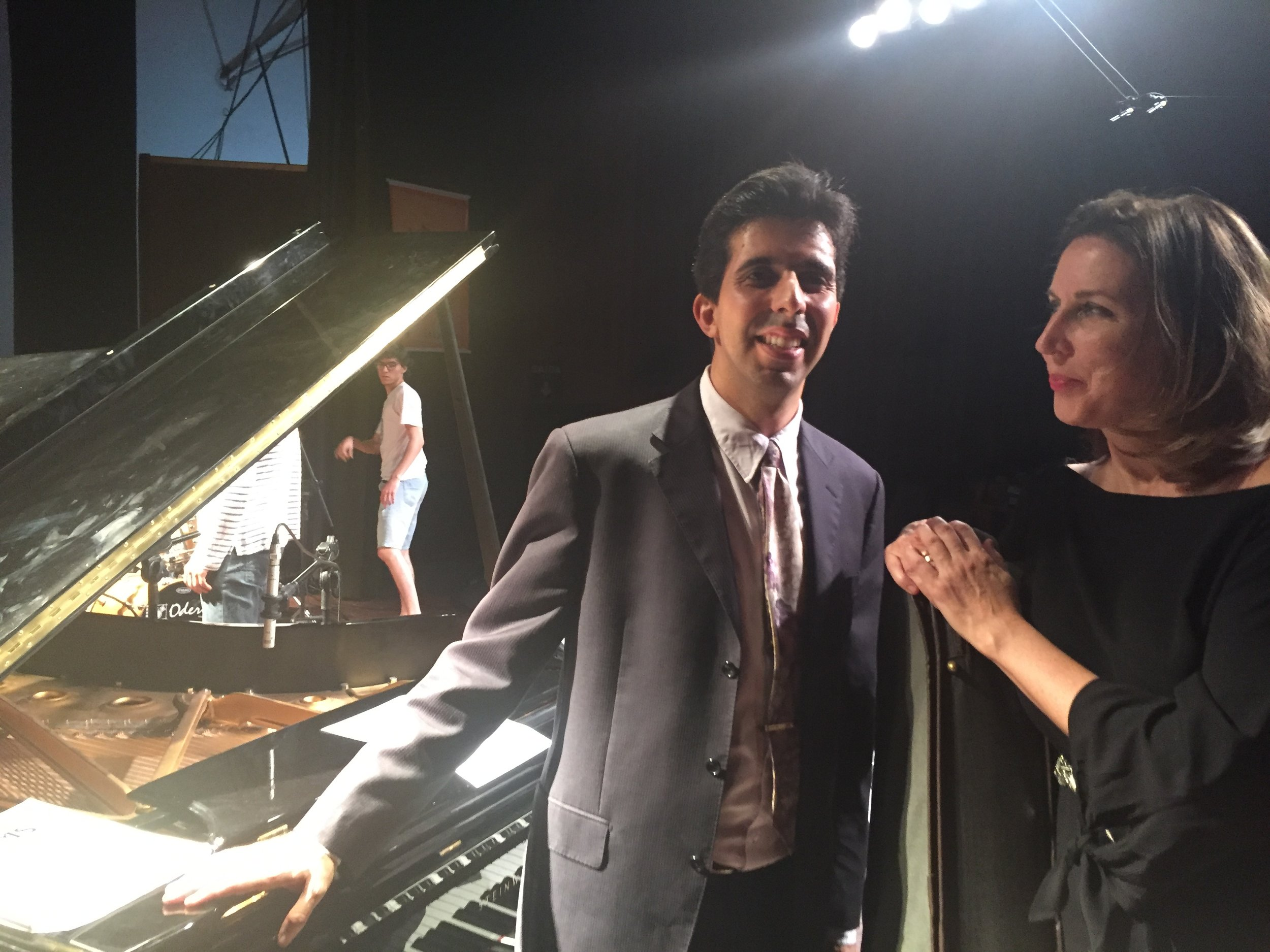 with pianist Durval Cesetti
