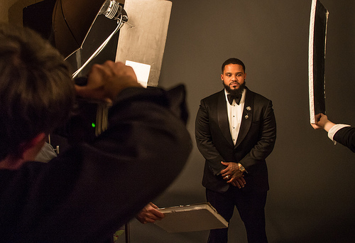 Prince Fielder  - Photoshoot for New York Fashion Week