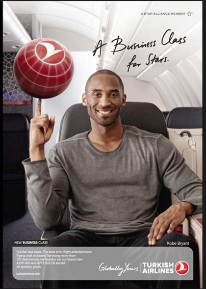 Kobe Bryant  - Turkish Airlines ad campaign
