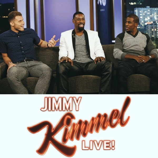 DeAndre Jordan  with Chris Paul & Blake Griffin -  Jimmy Kimmel Live