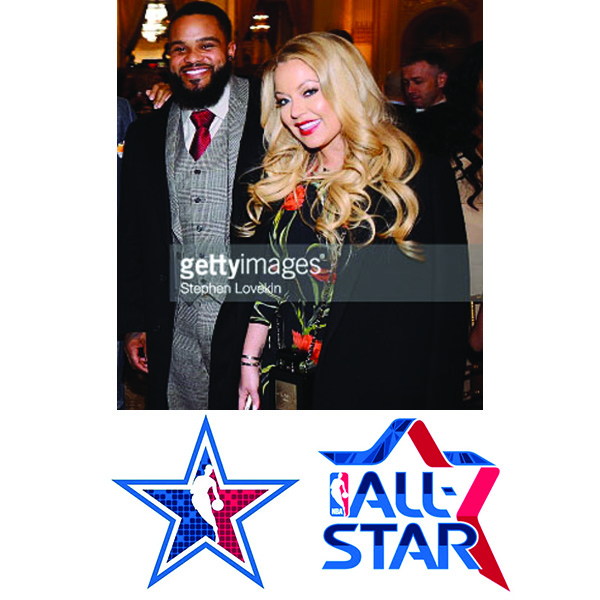 Prince Fielder  &  Chanel Fielder -  NBA All Star Weekend