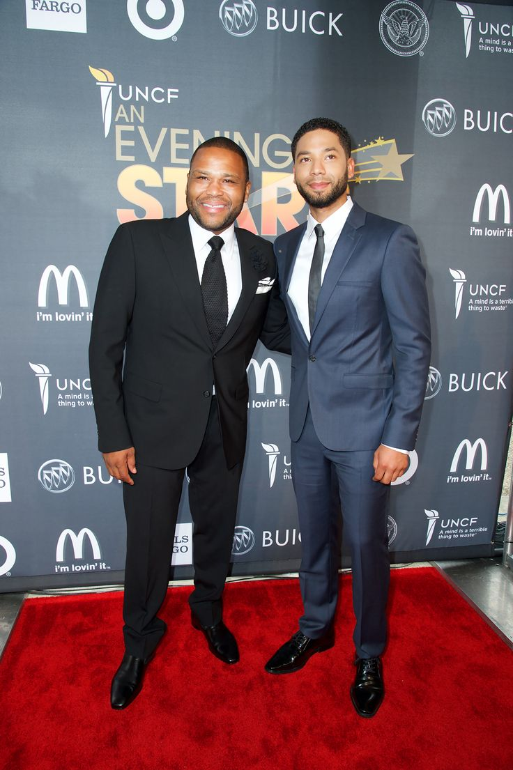 Anthony Anderson  with Jussie Smollet - UNCF An Evening of Stars