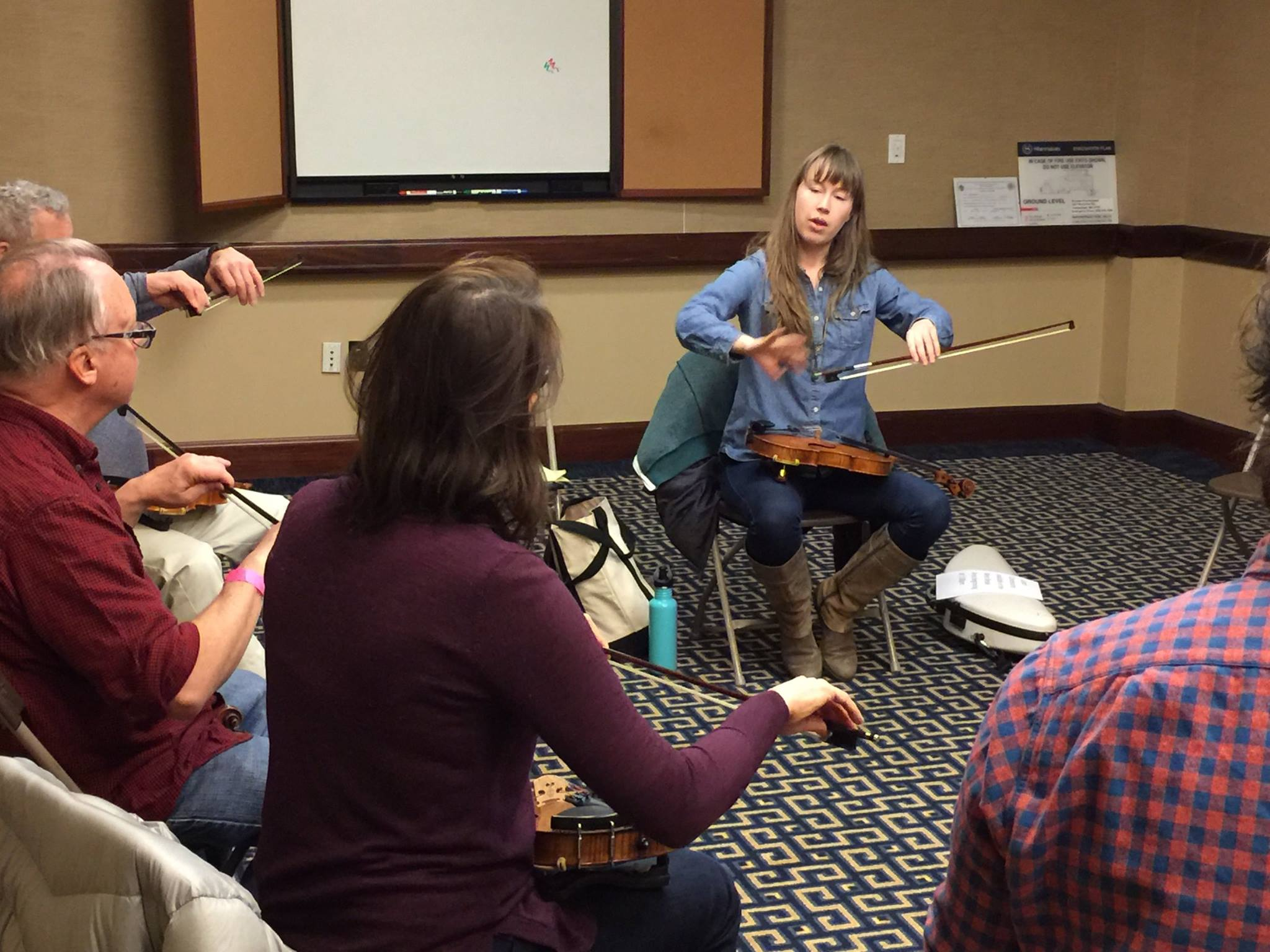 Talking bow holds at the 2017 Joe Val Fiddle Master Class