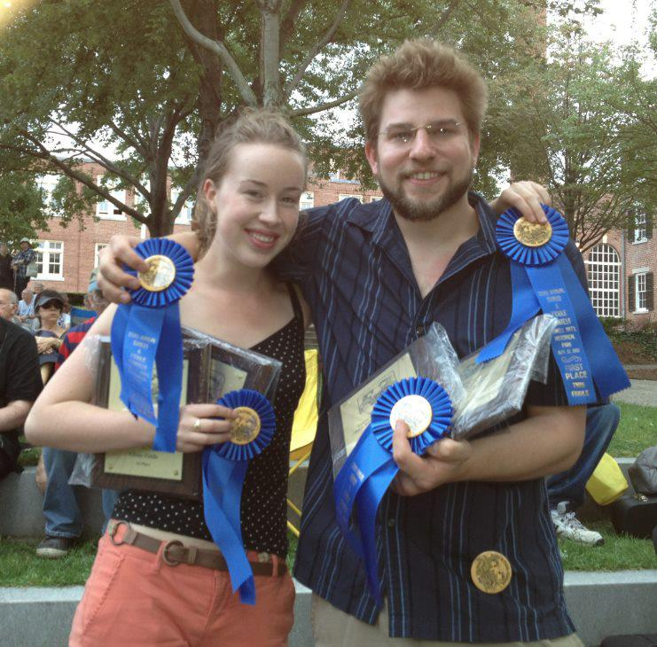 2012 Lowell Fiddle & Banjo Contest - 1st place twin fiddle and alt. styles