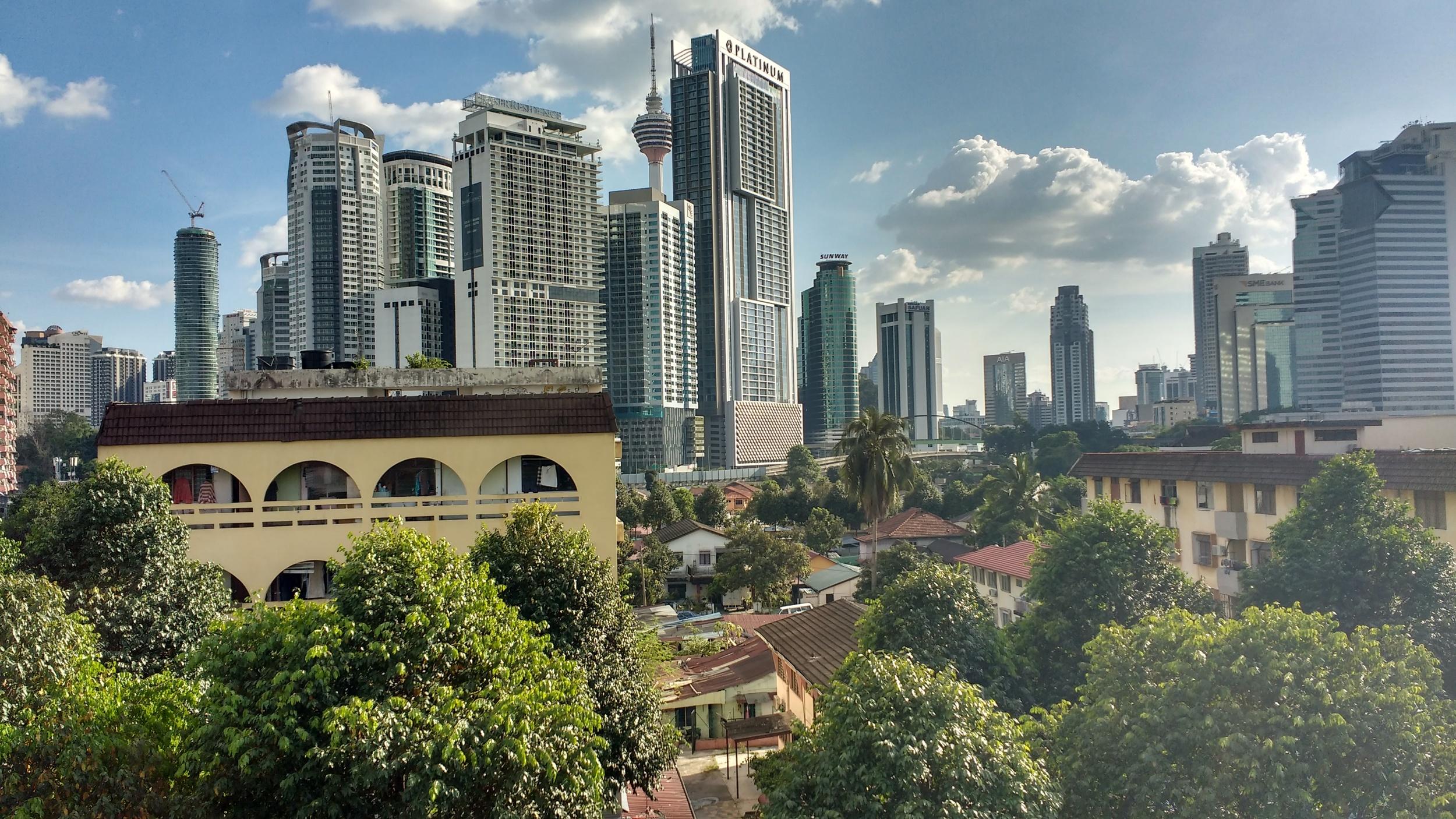 High-rise development at the edge of Kampung Bharu. Photo: Vishnu Prasad
