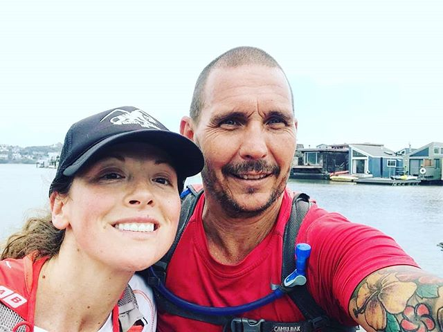 Christian and his cousin, Anna, cheesing in Sausalito just one day before he hits San Francisco #california #runacrossamerica